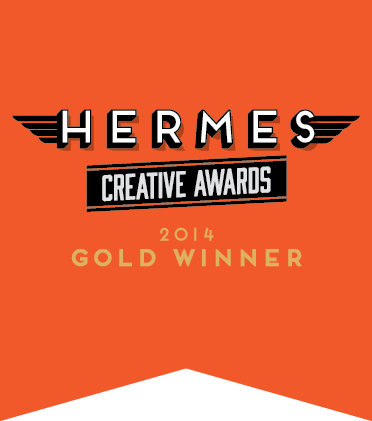 Hermes Creative Gold Award Banner