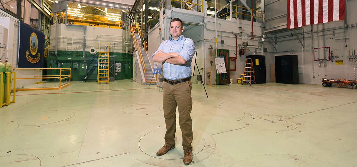 Dan Wachs at INL's Transient Reactor Test Facility (TREAT).