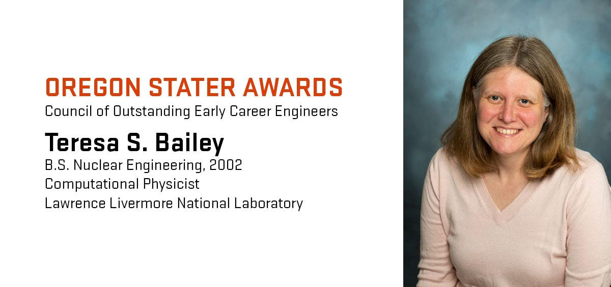 Teresa Bailey graduated from Oregon State in 2002.