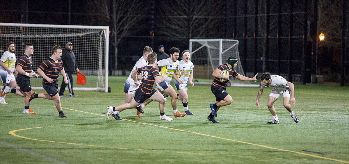 Juwan Johnson captains the Oregon State Men's Rugby Team and occasionally runs over the rival Ducks.