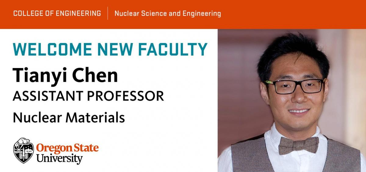Tianyi Chen joins the faculty with expertise in materials science