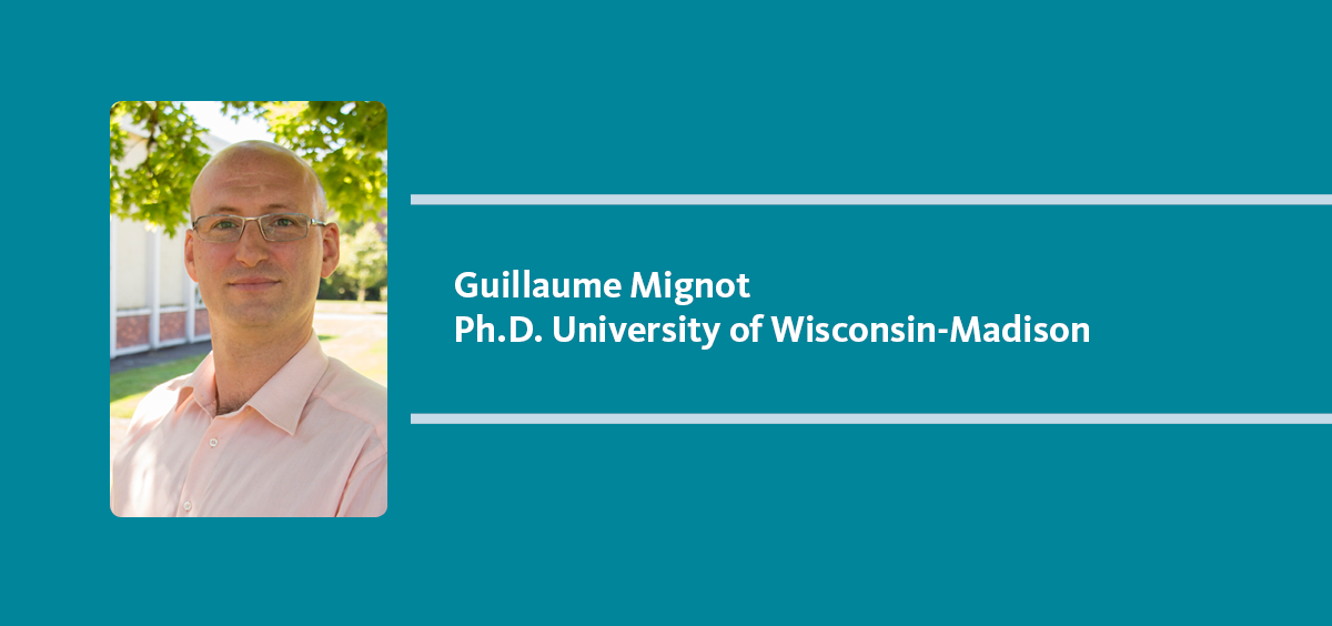 Guillaume Mignot joins NSE as research faculty